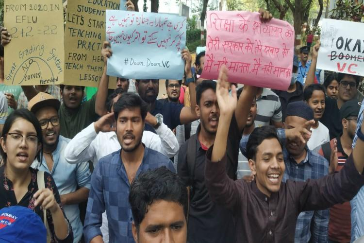 EFLU Hyderabad students launch indefinite protest against unfair reforms