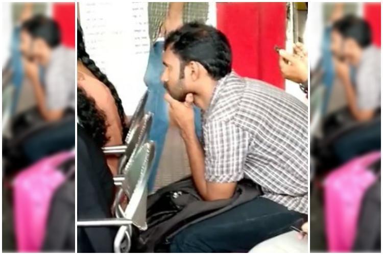 Man seen molesting women at railway station in Kerala videos go viral