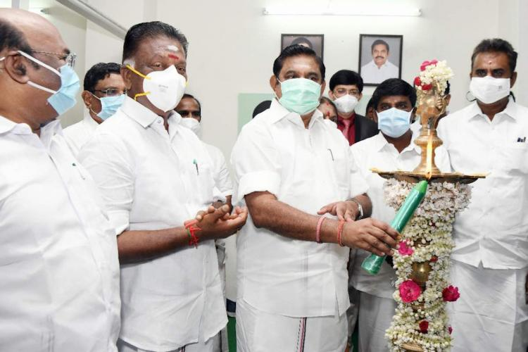 Chief Minister EPS and Deputy CM OPS inaugurating Amma Clinics in Tamil Nadu