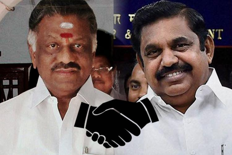Live blog EPS and OPS come together as AIADMK factions set to merge