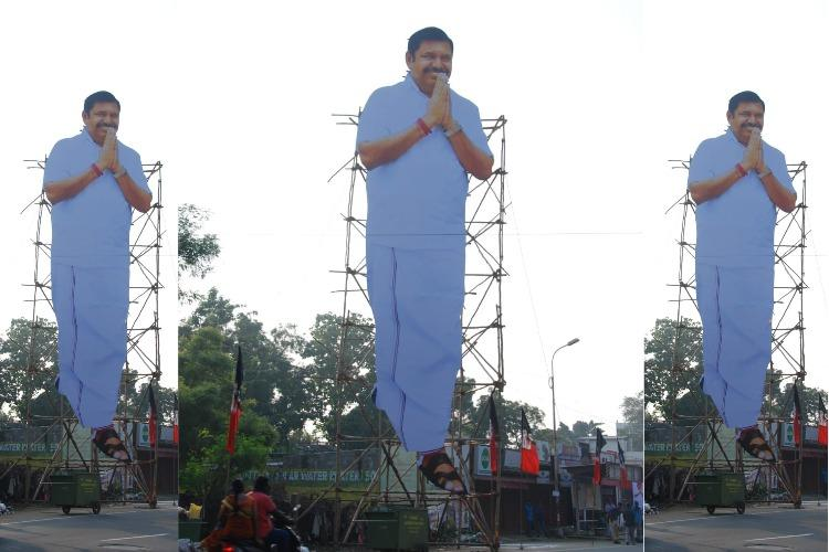 Seen the miles of illegal hoardings and cut-outs in Coimbatore Nope says TN CM