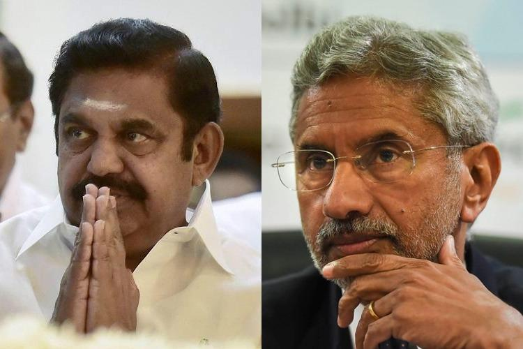 Coronavirus EPS writes to Min Jaishankar seeks help for TN fishermen in Iran