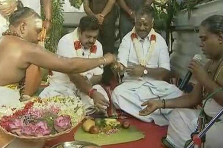 TN govt lays foundation for massive Jaya memorial DMK objects to Hindu ceremony