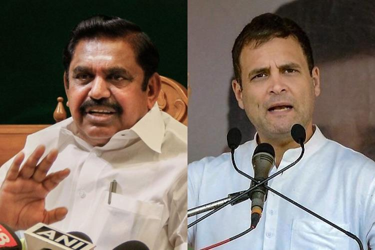 TN Congress should clarify Rahuls comments on Cauvery authority CM Palaniswami