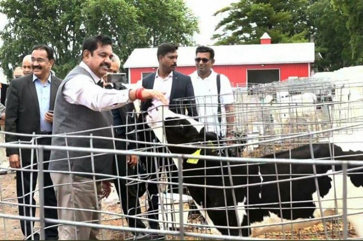 TN CM visits US dairy farm explores options for setting up livestock park in Salem