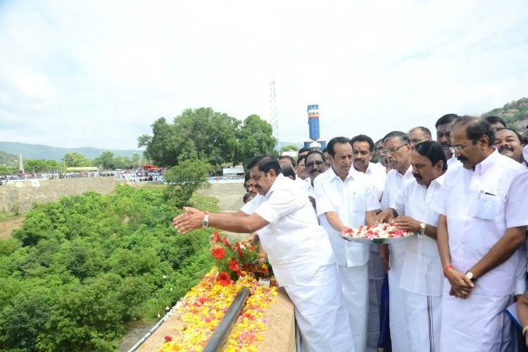 Tamil Nadu CM Palaniswami releases water from Mettur dam