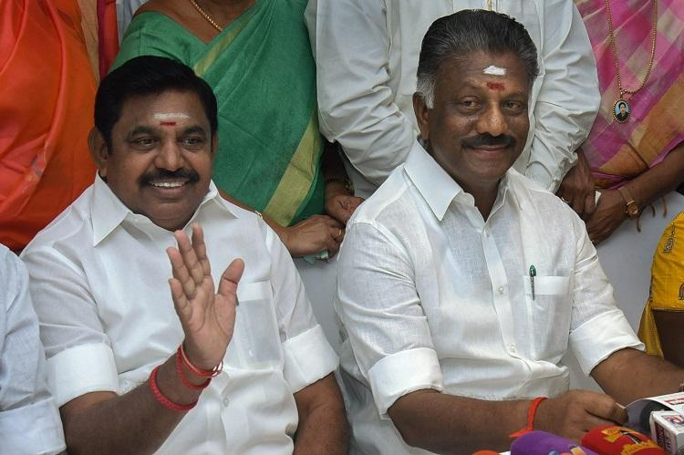 No whip was issued to 11 rebel AIADMK MLAs cant disqualify them TN CM to Speaker