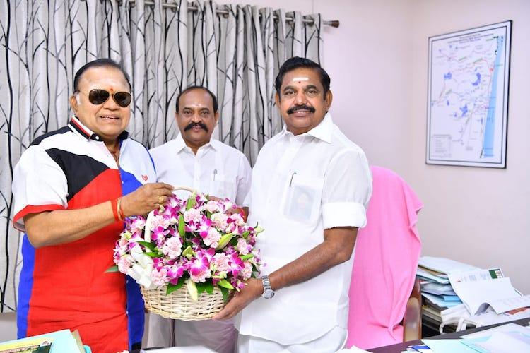 Suspended from DMK for derogatory comments on Nayanthara Radha Ravi joins AIADMK