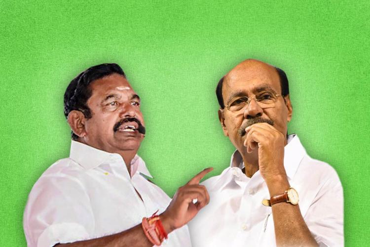 Collage of Edappadi Palaniswami and S Ramadoss