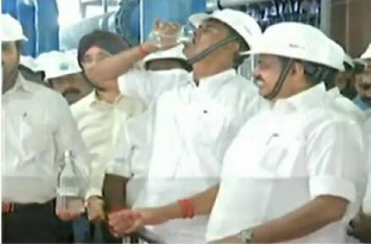 TN Minister drinks treated sewage water at event to set an example