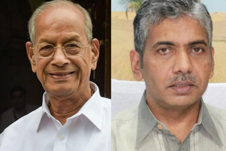 From left E Sreedharan and Jacob Thomas