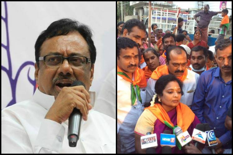 TN Cong chief EVKS Elangovan and BJP state chief spar over name-calling