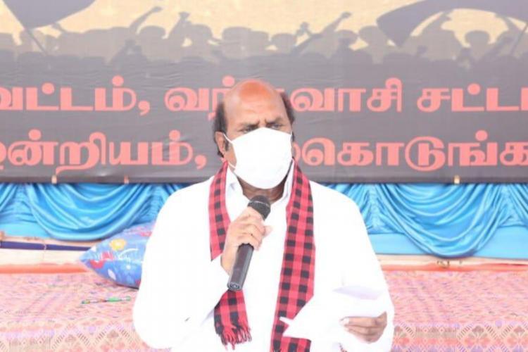 DMK candidate EV Velu