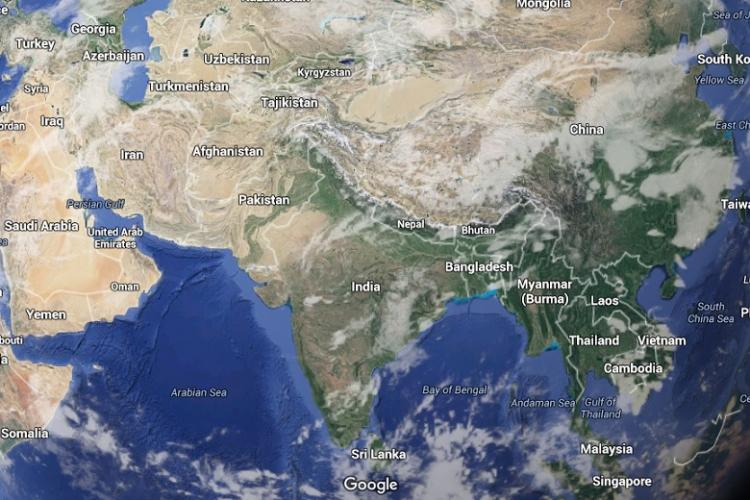 Morocco university wrongly shows undivided India map