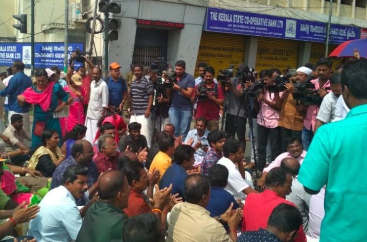 Widespread protests in Kerala after BJP leader K Surendrans arrest