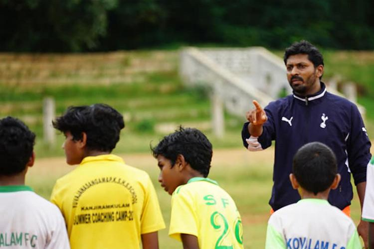 A football warrior from Tpuram is trying to change the way the game is played in Kerala
