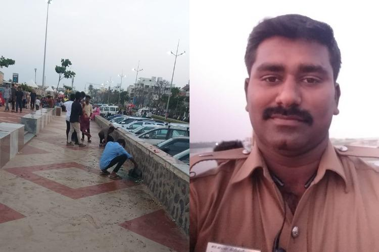Chennai cop tracks down students who littered public place makes them clean up