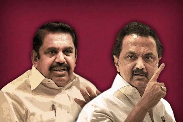 A collage of EPS and MK Stalin
