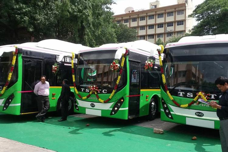 Olectra-BYDs electric buses begin commercial operations for TSRTC in Hyd