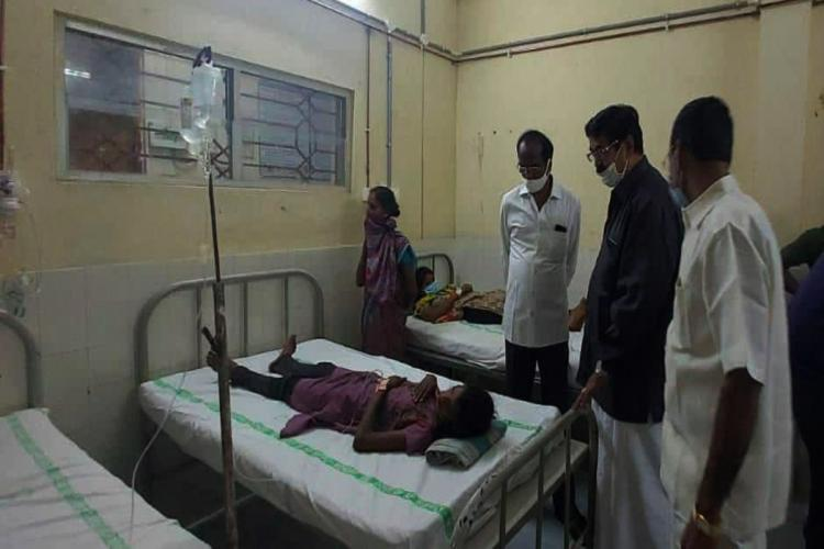 The residents being treated at Eluru Govt Hospital