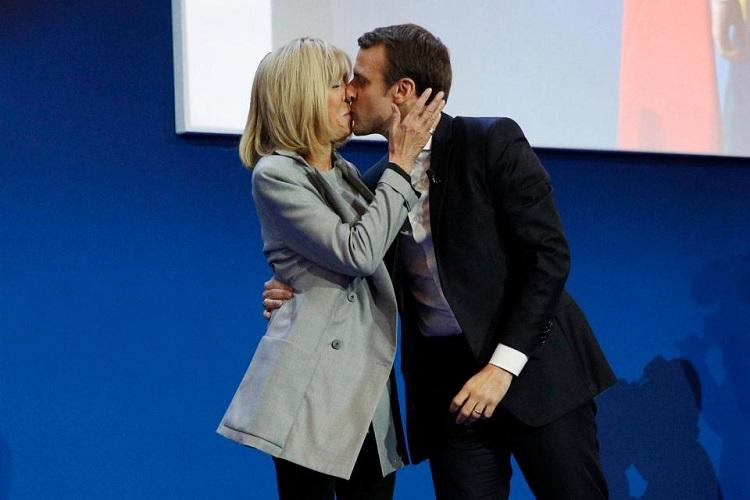 French presidential candidate Macron is 39 his wife 64 Why do we find this so hard to accept