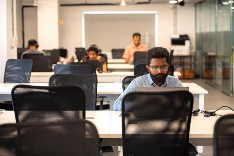Employees working in office