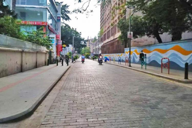 Church Street when the vehicular traffic was earlier banned due to Church Street First initiative