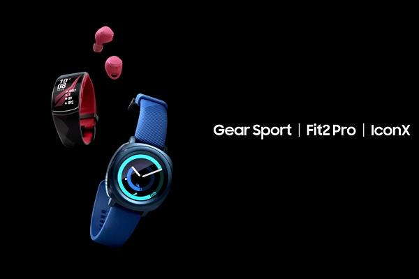 Samsung launches Gear Sport smartwatch Fit2 Pro fitness tracker and IconX earbuds at IFA