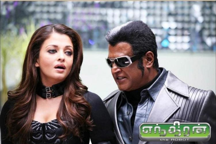 A poster of Enthiran movie