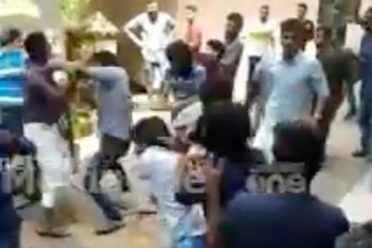 Watch Valentines Day turns violent as SFI-KSU students clash in Kerala college