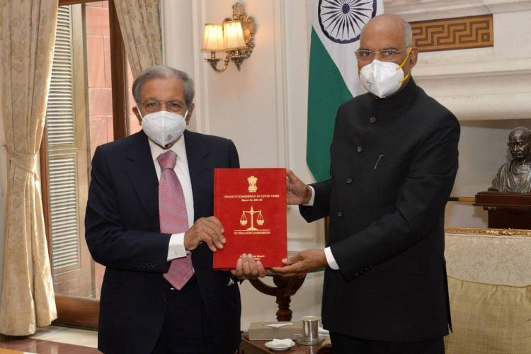 15th Finance Commission Report was submitted to President today
