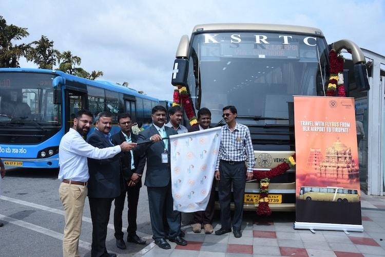 Non-stop luxury bus service was flagged off by KSRTC