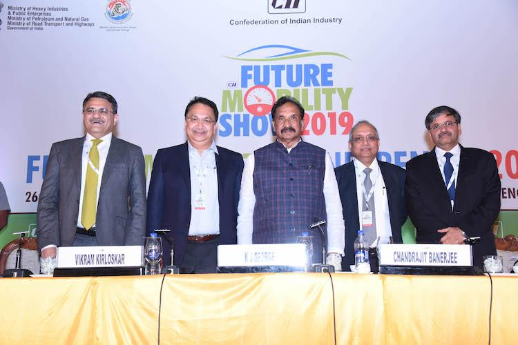 CII Future Mobility Show 50 govt vehicles to be electric by this year says KJ George