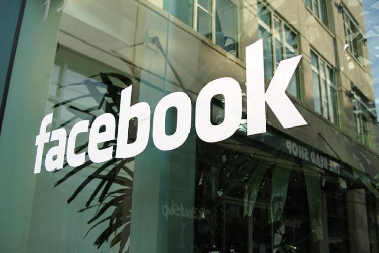 Facebook logo at office