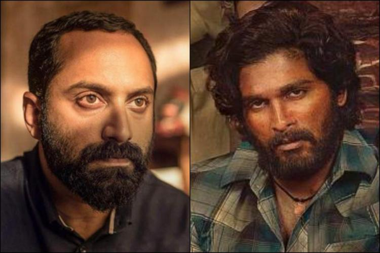 Fahadu Faasil and Allu Arjun