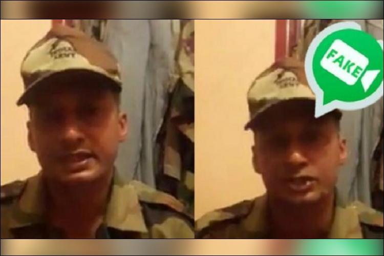 Seen viral video of soldier slamming Kerala CM He is fake says army