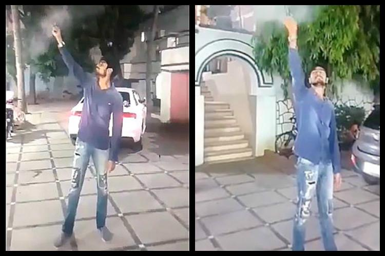 Video Hyderabad man goes on a firing spree at Falaknuma to celebrate birthday arrested