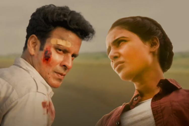 Family Man season 2 screenshot with Manoj Bajpaye and Samantha