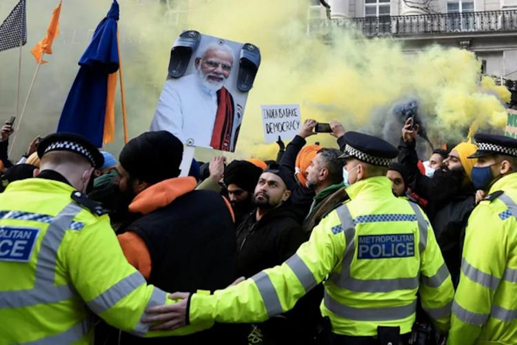 Protests against farm bills in London