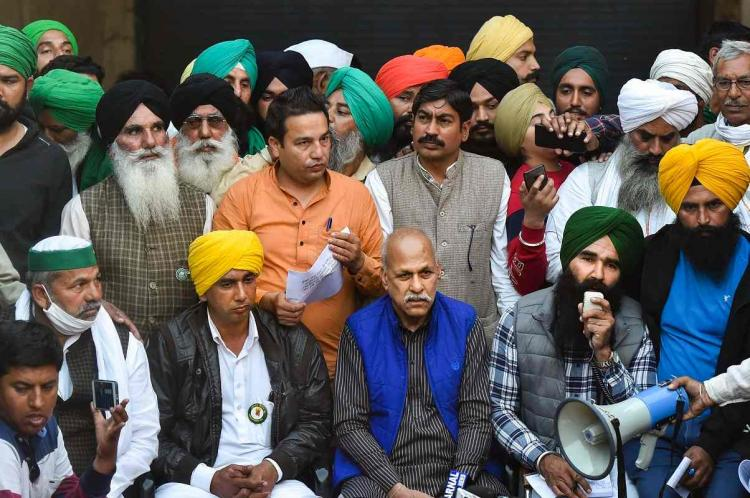 Farmer leaders speak to media at Singhu border rejecting governments proposal