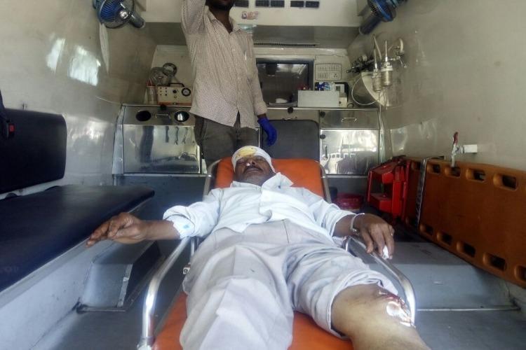 Illegal banner for TN CM in Coonoor falls on motorist injures him severely