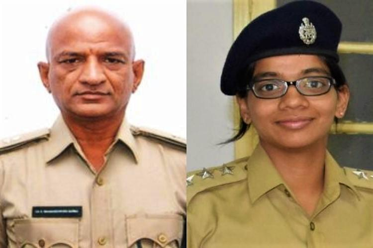 She is my senior officer I salute her Father-daughter police officer duo win hearts