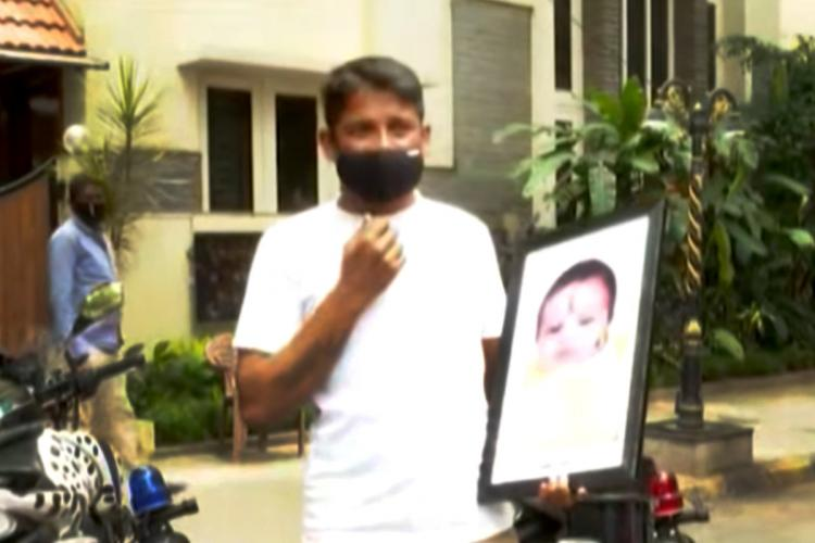 Bengaluru man protests outside CMs office after his baby dies without medical care