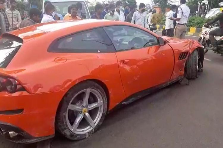 he Madhapur police took into custody the driver of the Ferrari car belonging to Pitchi Reddy Pamireddy director of Megha Engineering Infrastructures Limited MEIL