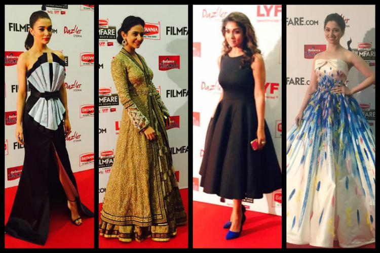 In pictures Glitz glamour and winners at Filmfare south