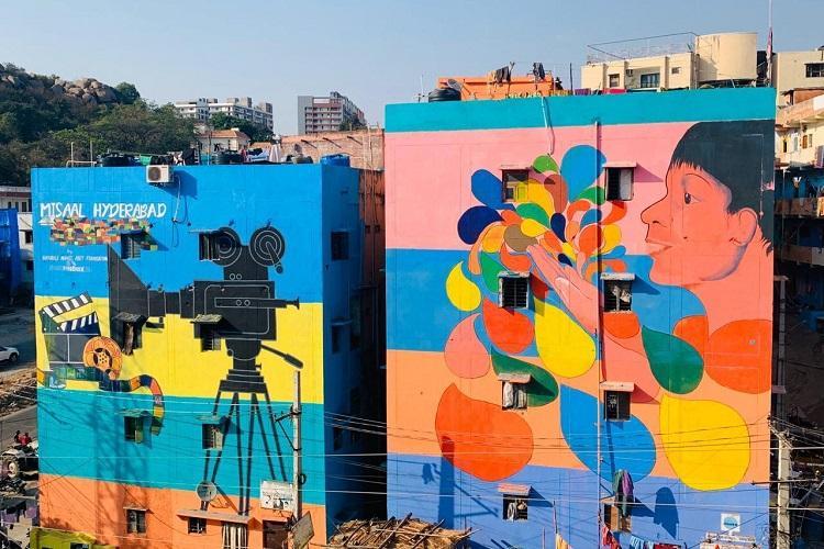 Slum in Hyderabads Filmnagar gets complete makeover with art