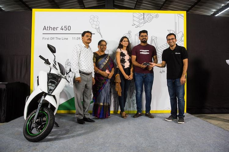 Ather Energy begins deliveries of Ather 450 e-scooters in Bengaluru