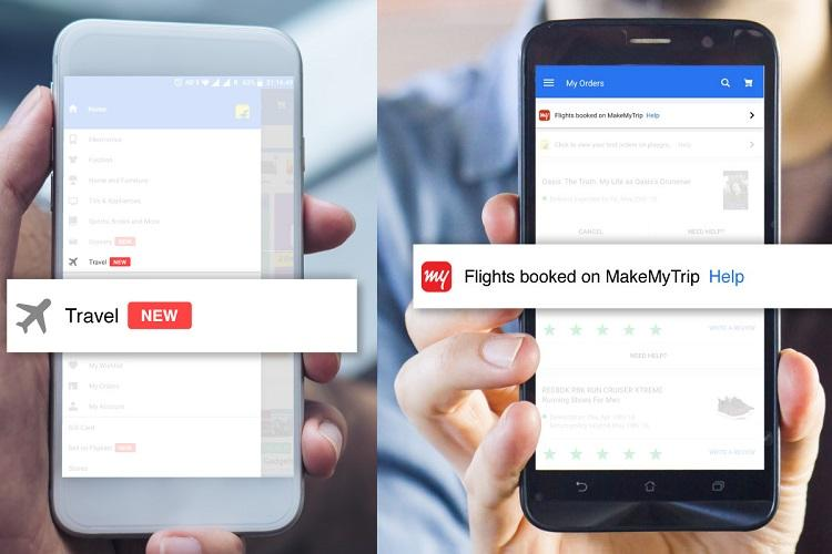 Flipkart introduces flight bookings powered by MakeMyTrip on its app