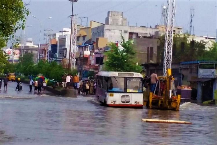 Several low-lying areas cut off marooned residents appeal for help as rains lash Hyderabad