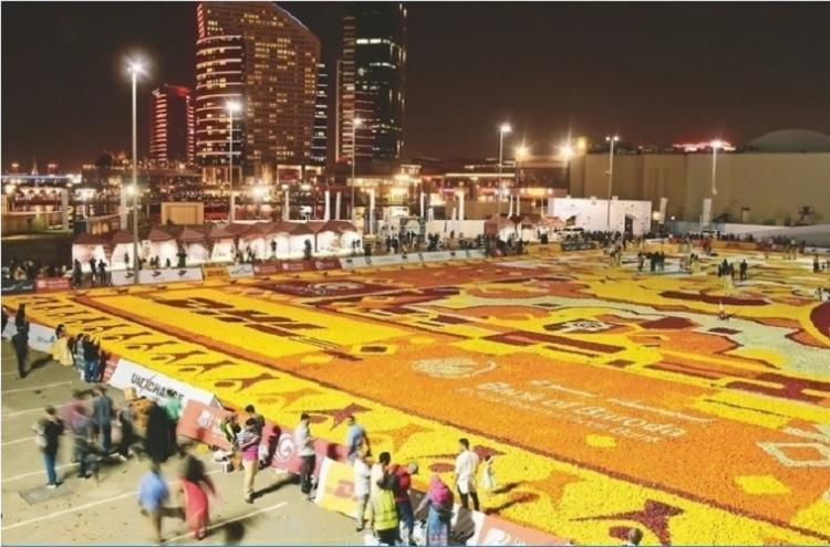 41000 kgs of flowers shipped from Karnataka to make record-breaking carpet in Dubai